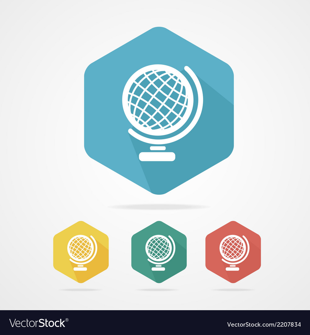 Vecrot globe icon flat vector | Price: 1 Credit (USD $1)