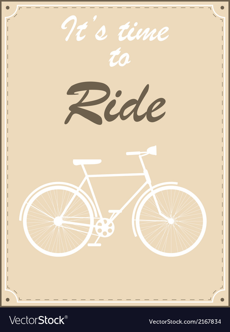 Vintage bike retro vector | Price: 1 Credit (USD $1)