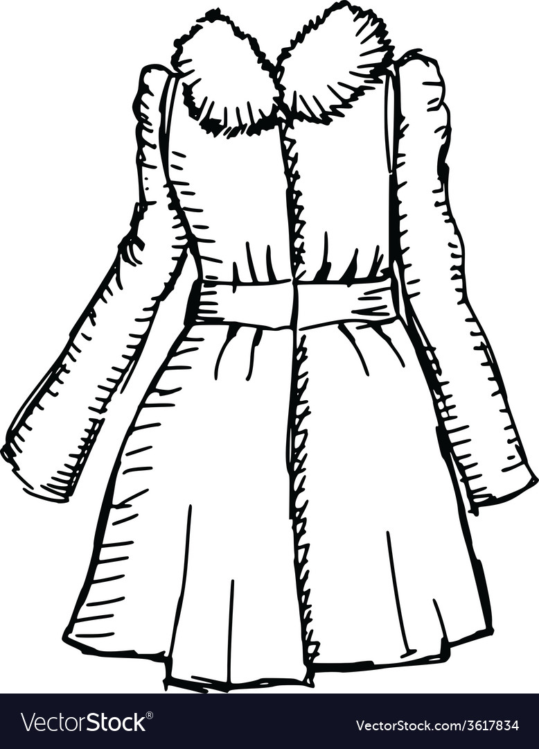 Women coat vector | Price: 1 Credit (USD $1)