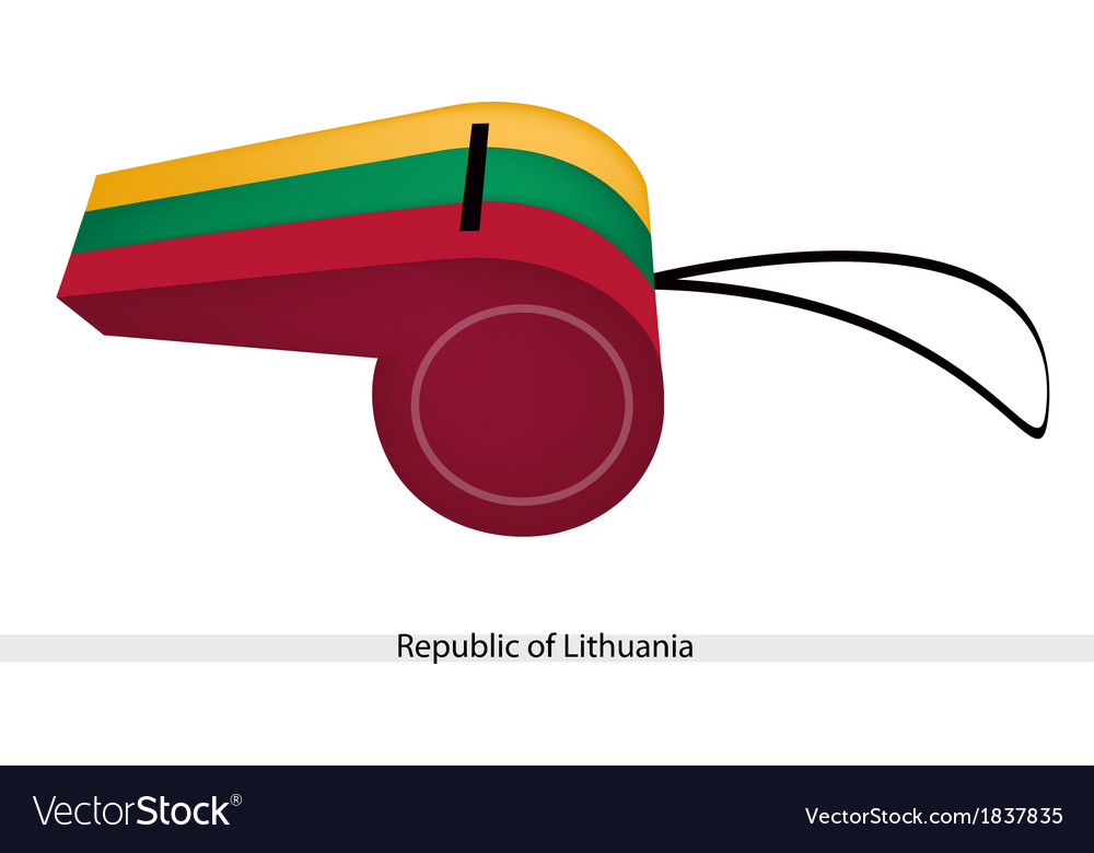 A whistle of the republic of lithuania vector | Price: 1 Credit (USD $1)