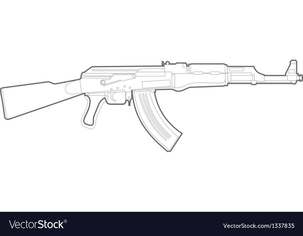 Ak47 silhouette vector