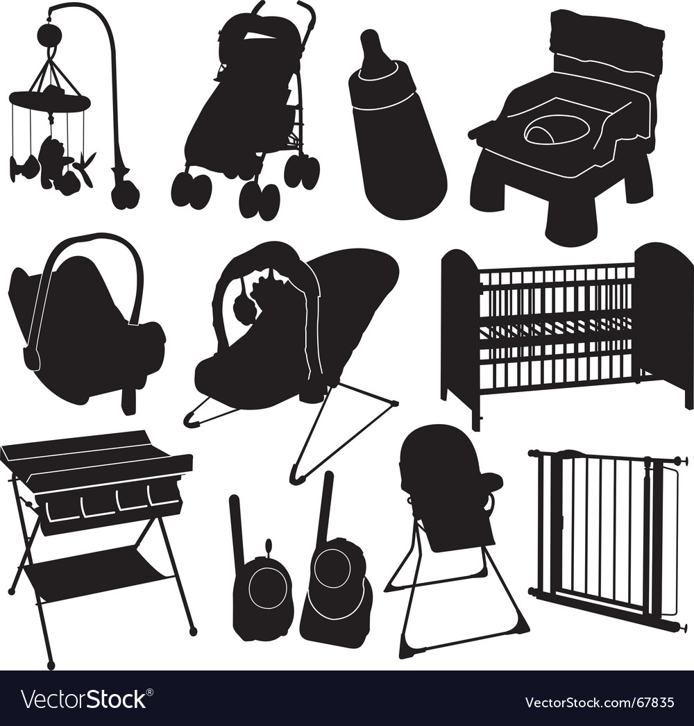 Baby silhouettes vector | Price: 1 Credit (USD $1)