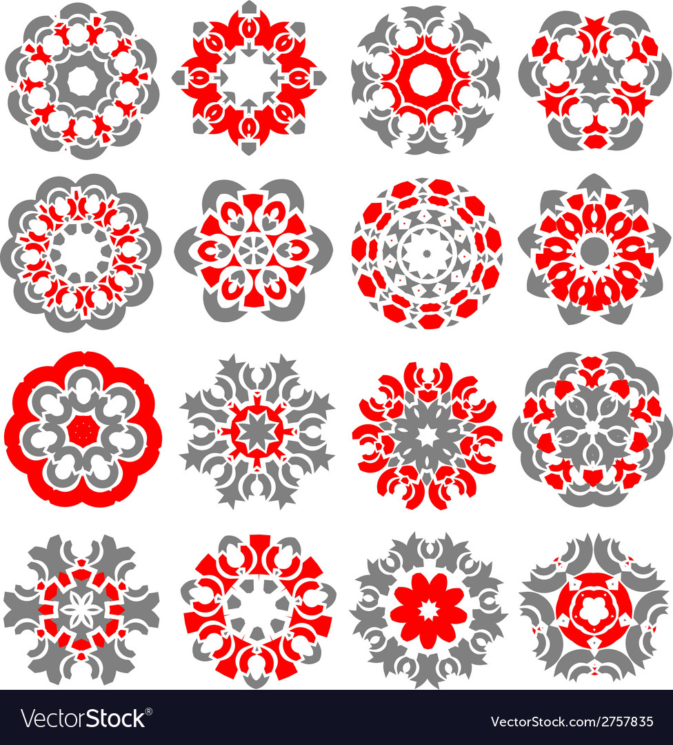 Beautiful abstract flower elements vector | Price: 1 Credit (USD $1)