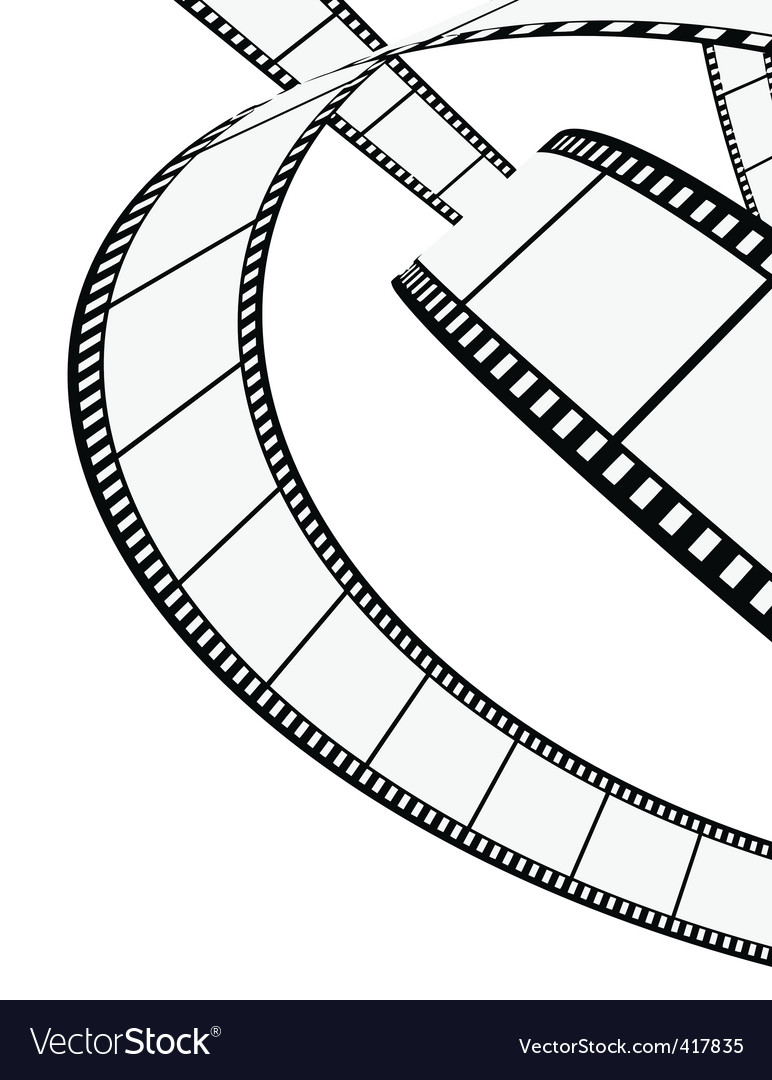blank film strip vector | Price: 1 Credit (USD $1)