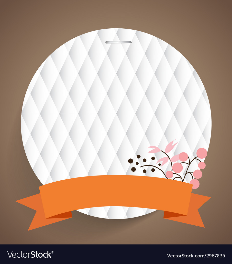 Cute note papers with ribbon and floral bouquets vector | Price: 1 Credit (USD $1)