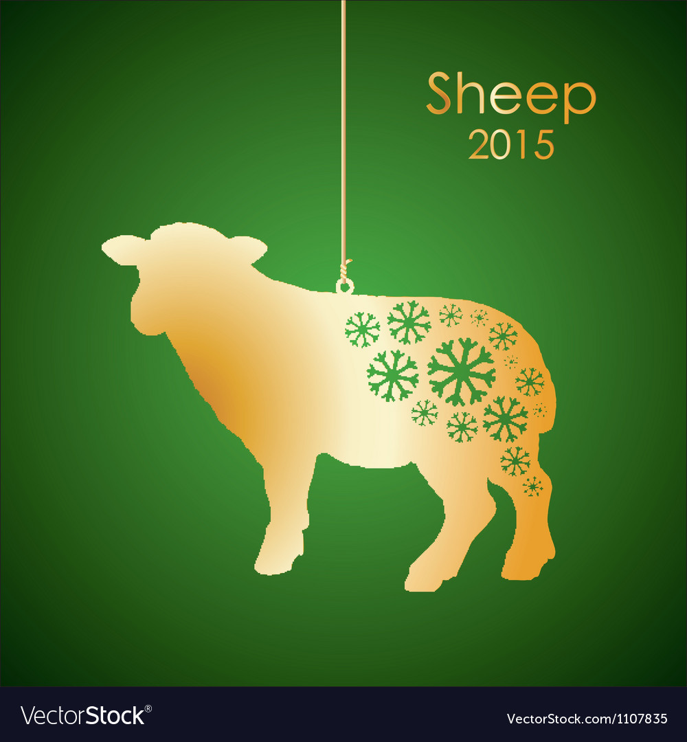Gold sheep vector | Price: 1 Credit (USD $1)