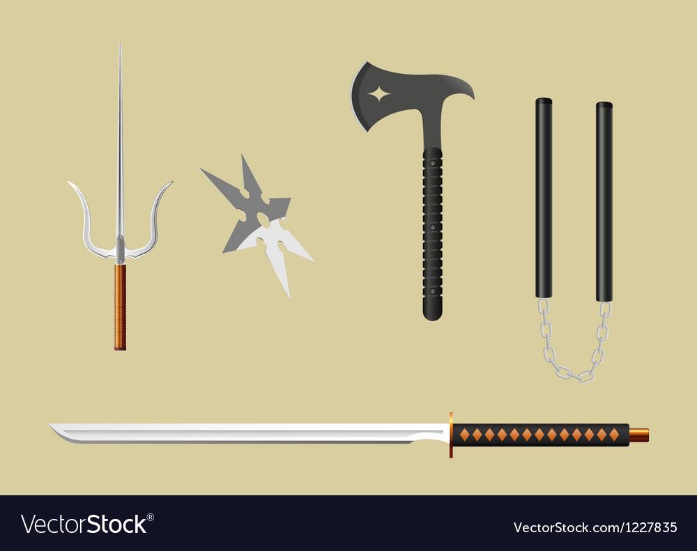 Ninja equipment vector | Price: 1 Credit (USD $1)