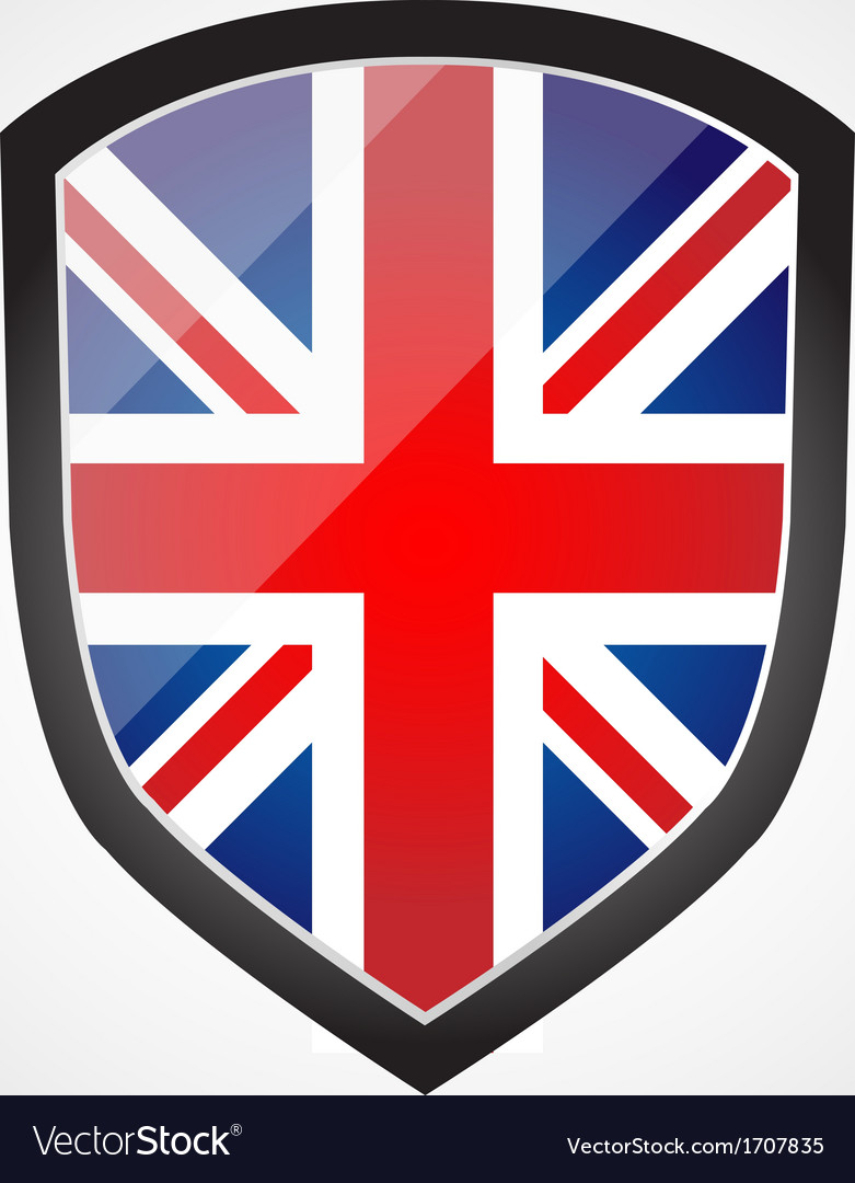 Shield with flag inside - united kingdom - uk vector | Price: 1 Credit (USD $1)