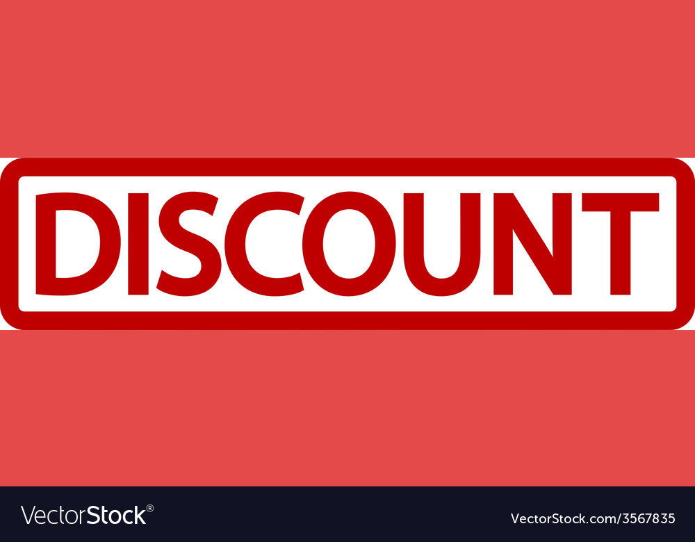 Stamp with word discount inside vector | Price: 1 Credit (USD $1)