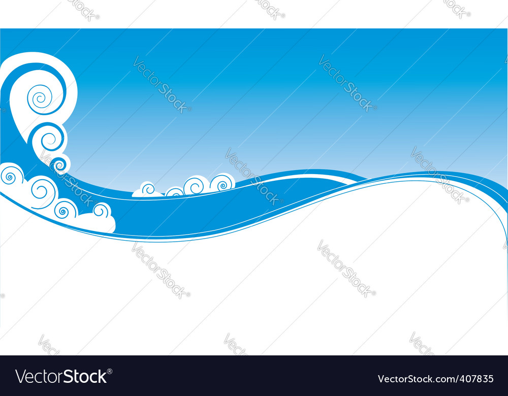 Wave backgound vector | Price: 1 Credit (USD $1)