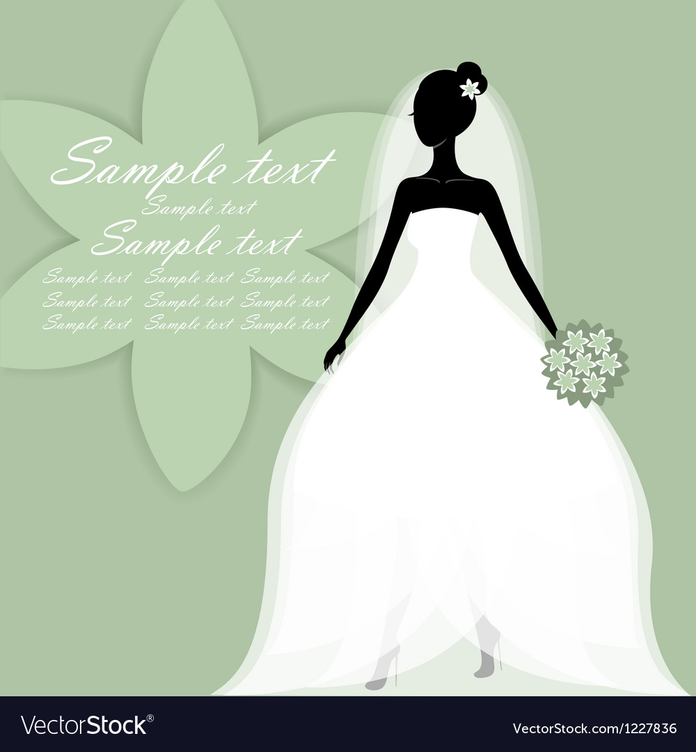 Beautiful young bride vector | Price: 1 Credit (USD $1)