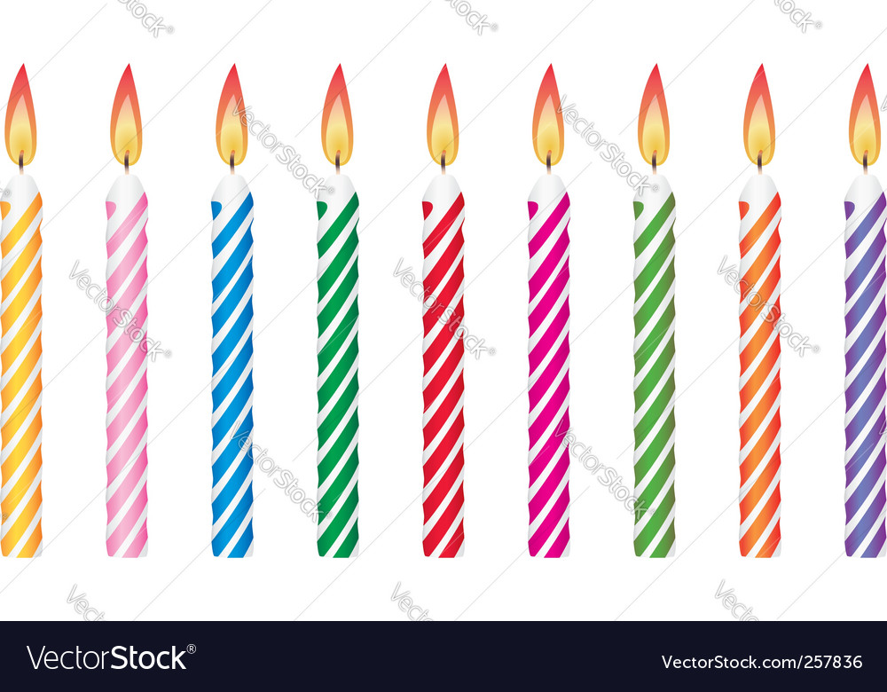 Birthday candles vector | Price: 1 Credit (USD $1)