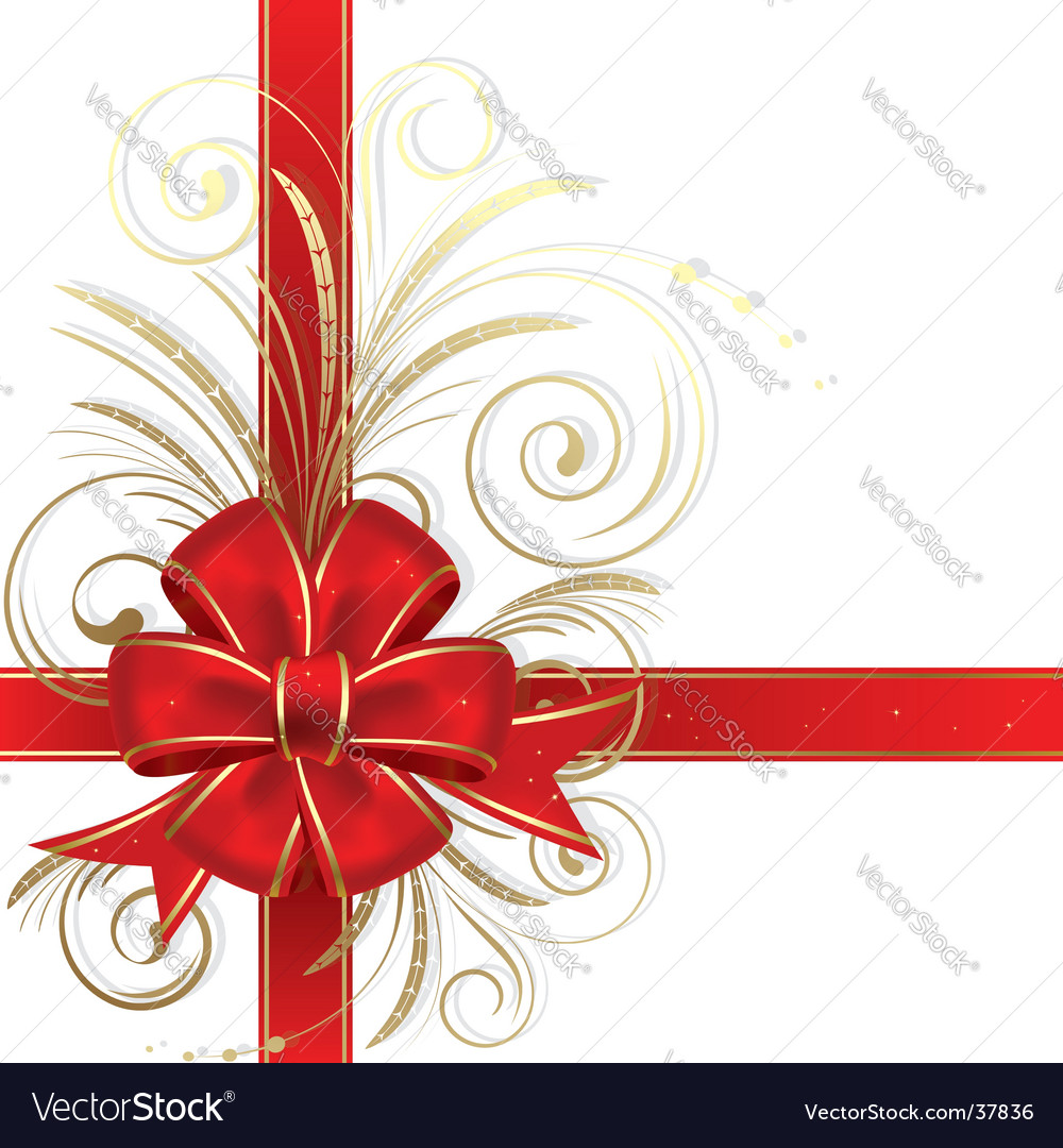 Christmas bow vector | Price: 1 Credit (USD $1)