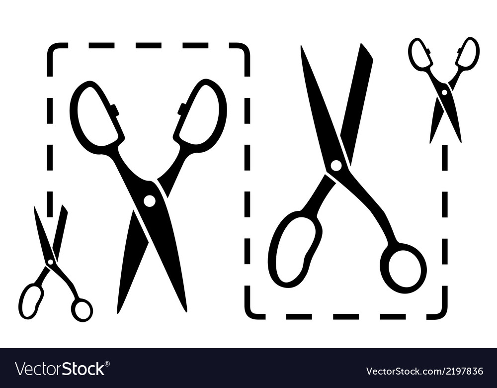 Dotted line with scissors cut vector | Price: 1 Credit (USD $1)