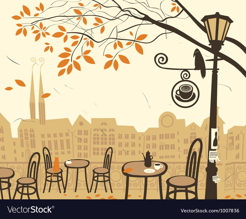 Fall city vector
