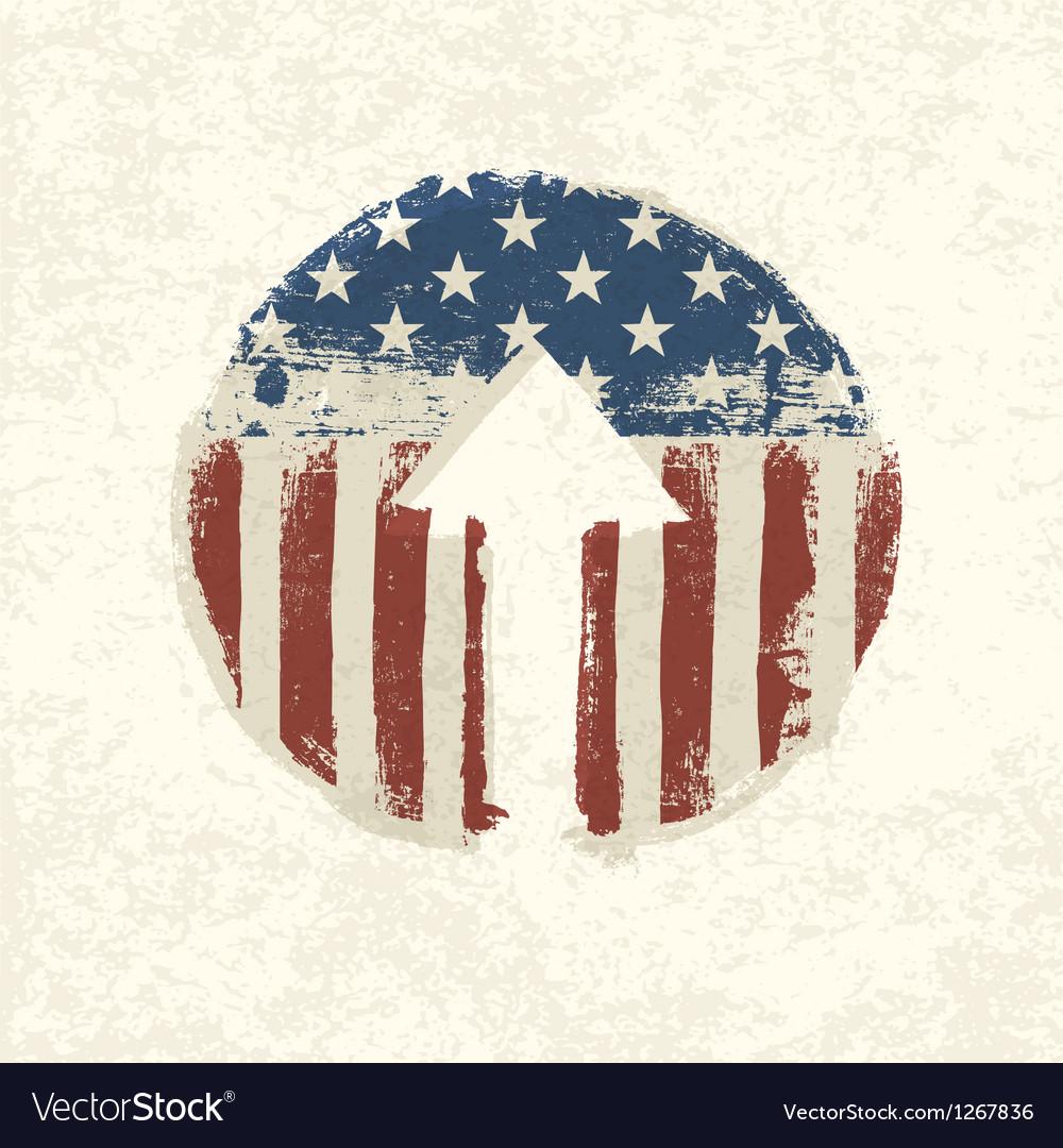 Grunge up arrow american vector | Price: 1 Credit (USD $1)