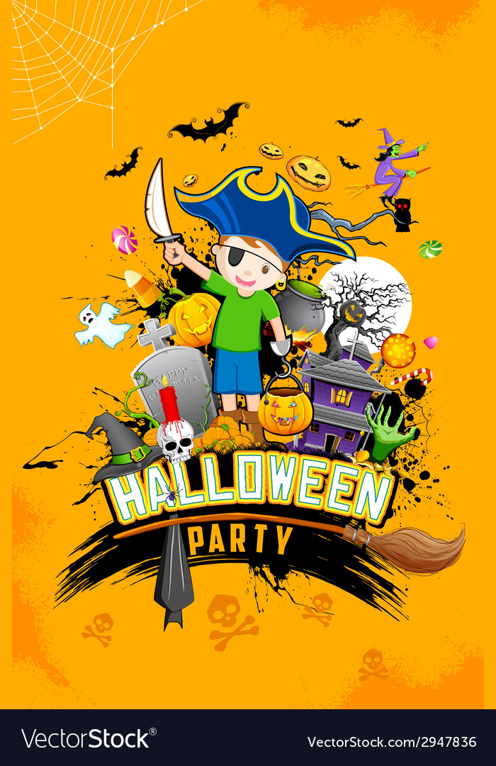 Halloween party vector | Price: 3 Credit (USD $3)