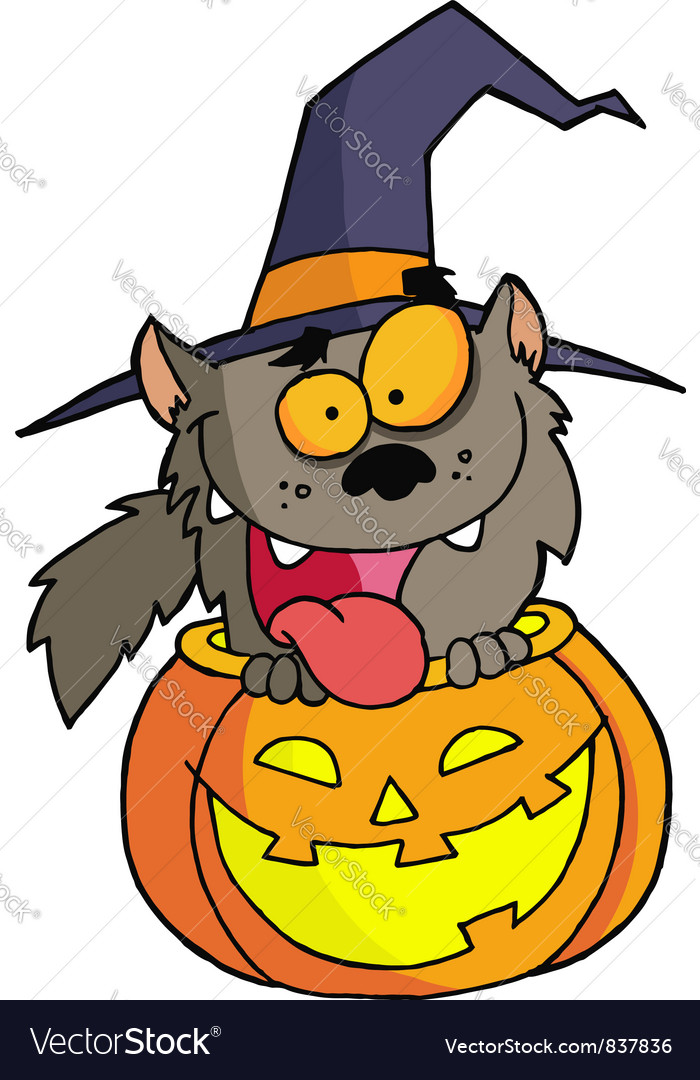 Halloween werewolf vector | Price: 1 Credit (USD $1)