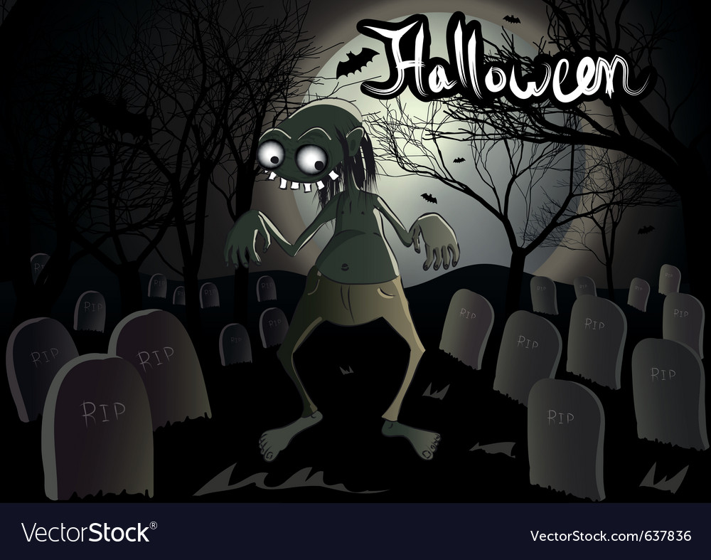 Halloween zombie vector | Price: 3 Credit (USD $3)