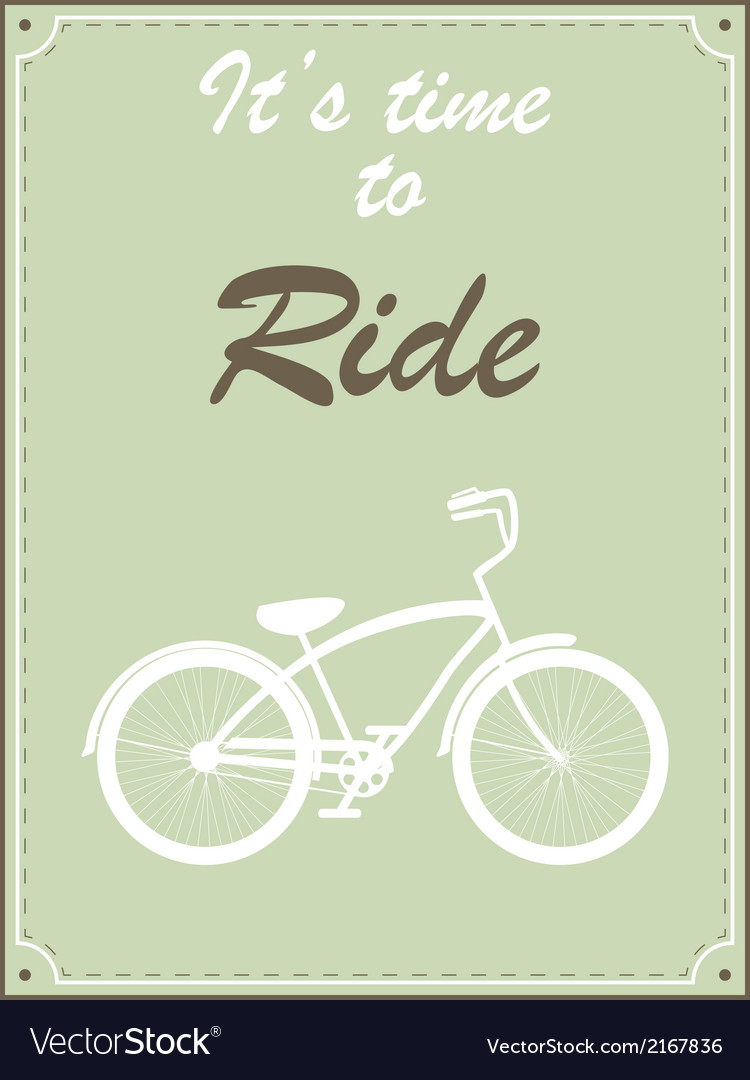 Hipster bike retro vector | Price: 1 Credit (USD $1)