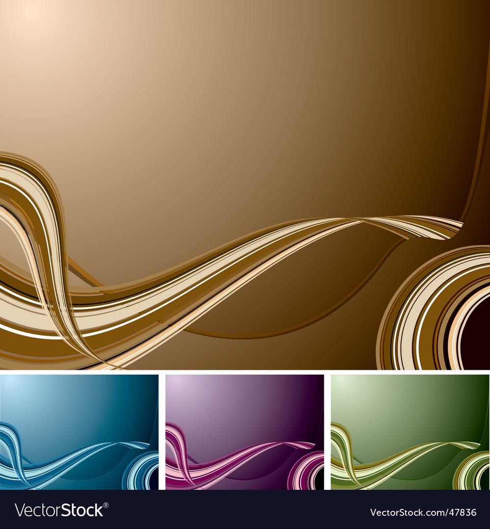 Quad swirl background vector | Price: 1 Credit (USD $1)