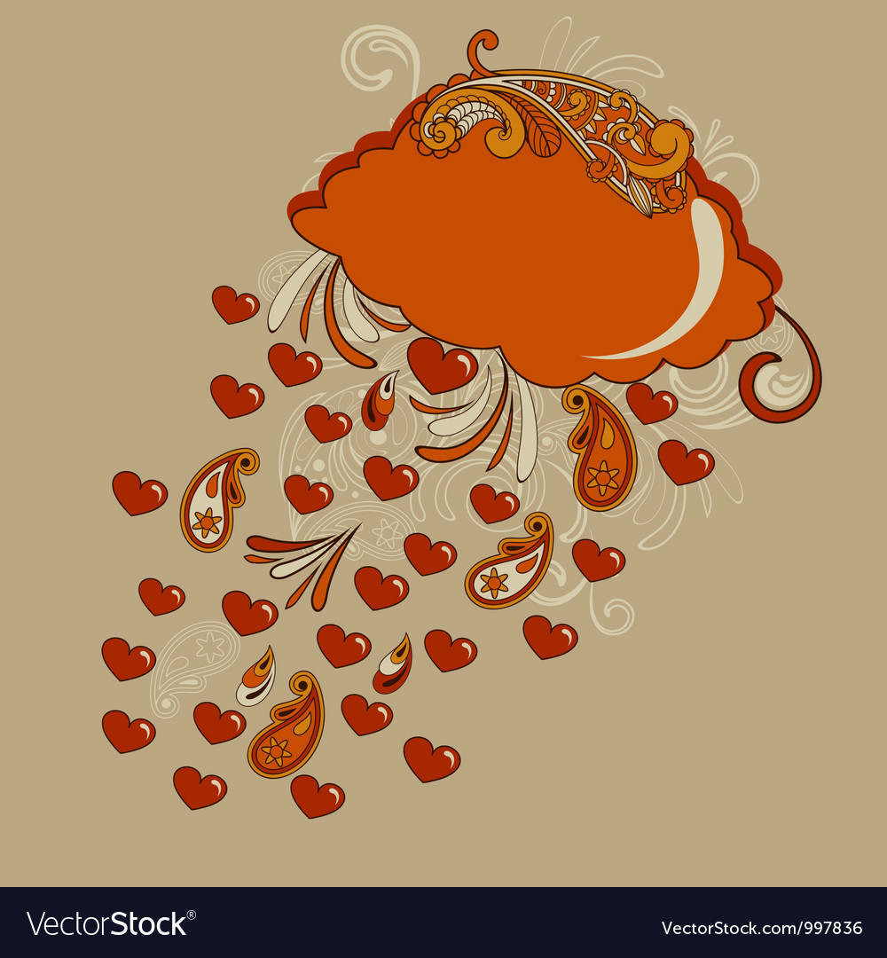 Red cloud with hearts rain vector | Price: 1 Credit (USD $1)