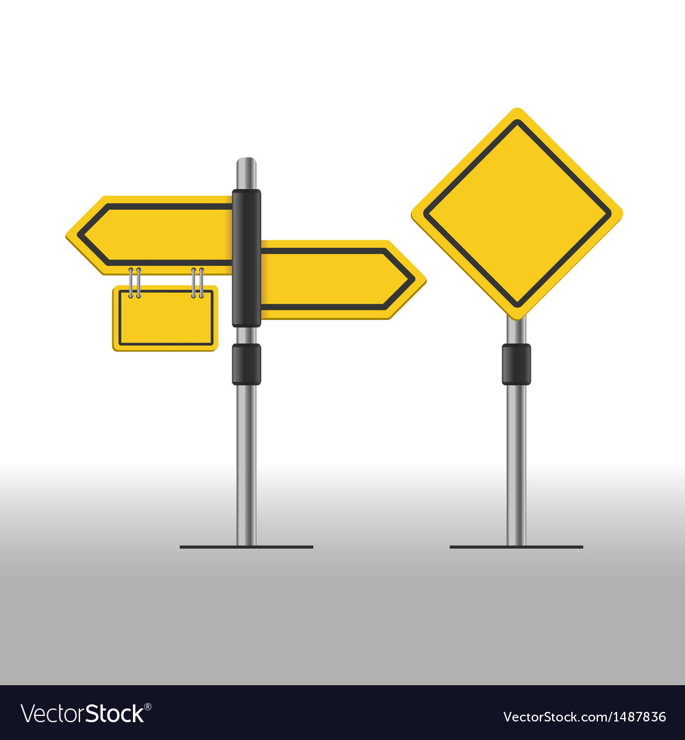 Road sign template vector | Price: 1 Credit (USD $1)