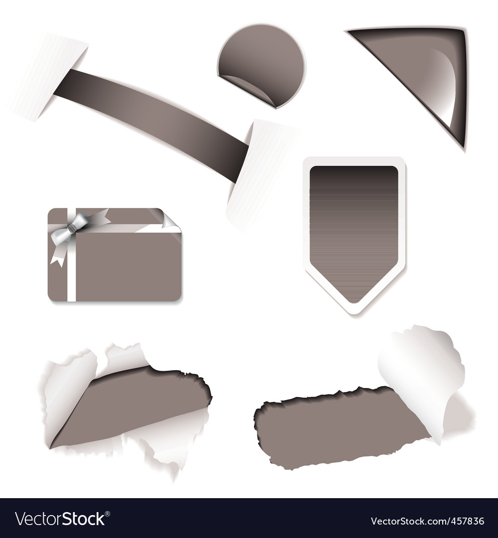 Shop sale elements black vector | Price: 1 Credit (USD $1)