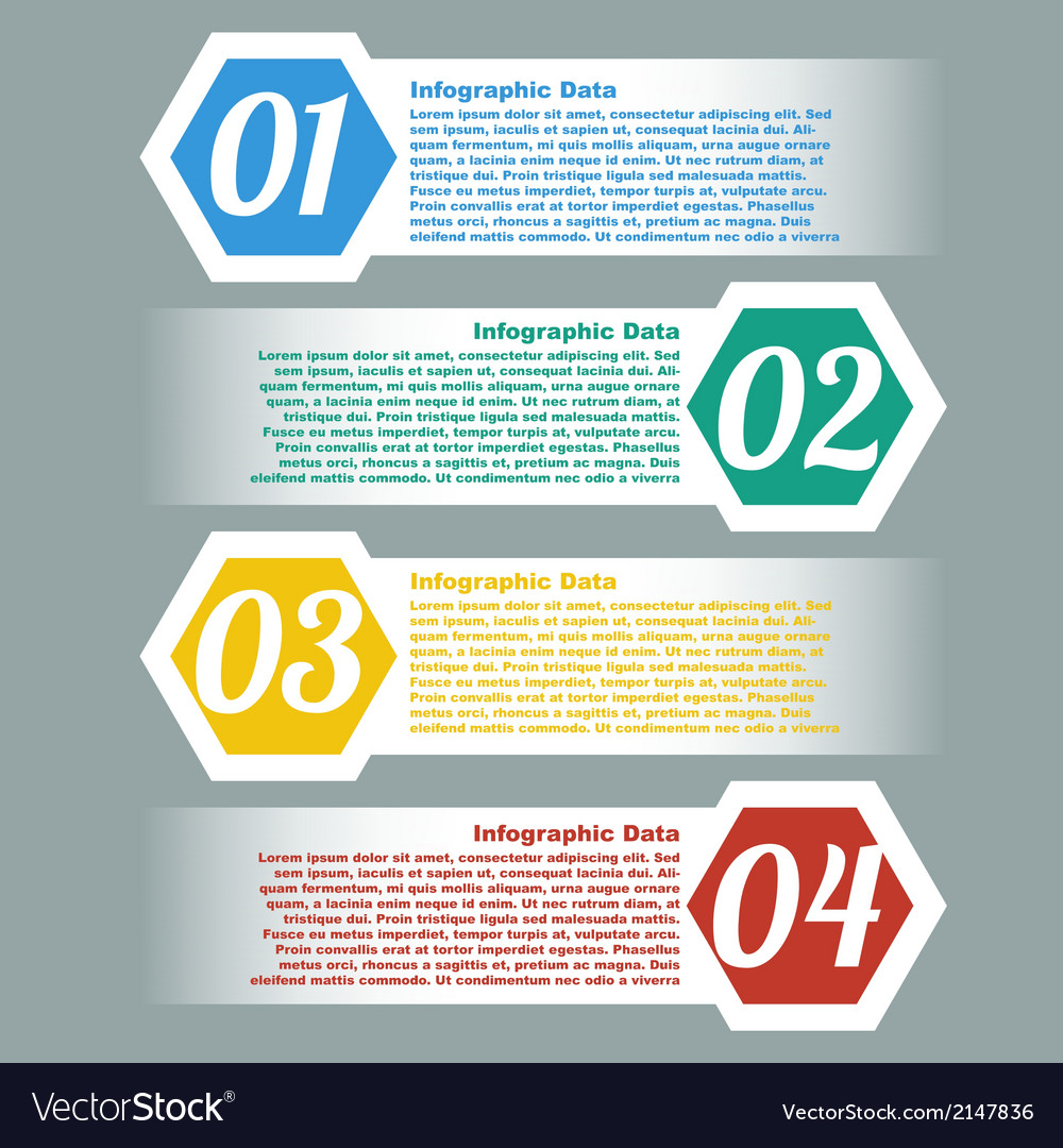 Stitching infographic element design with co vector | Price: 1 Credit (USD $1)