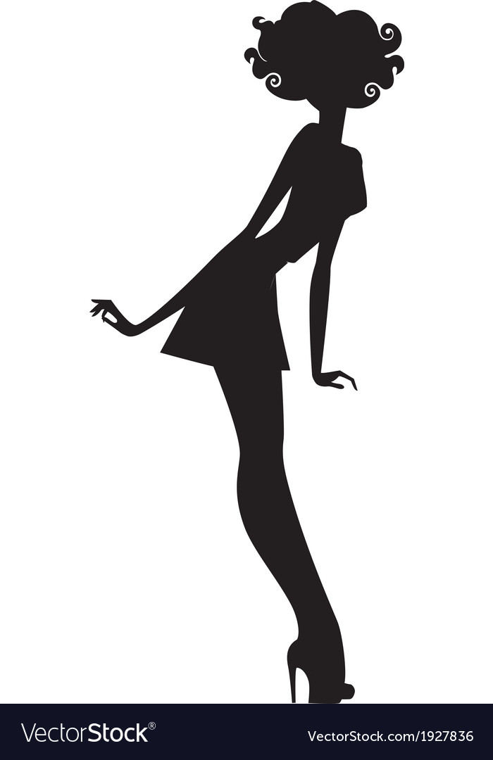 Woman silhouette vector | Price: 1 Credit (USD $1)