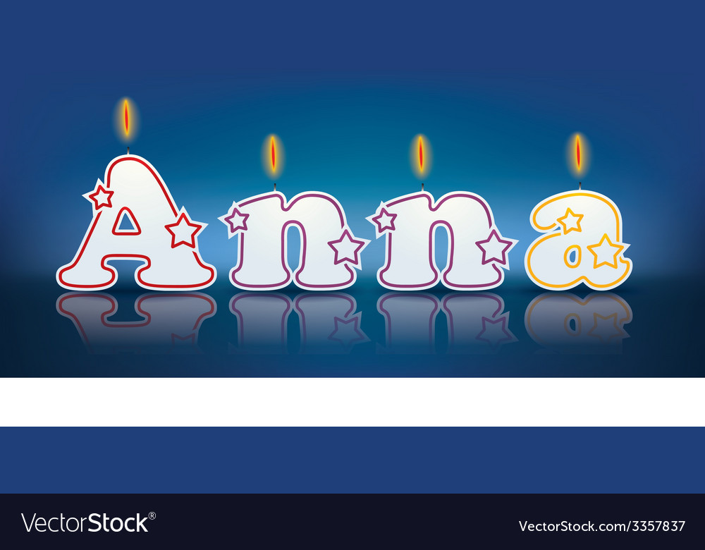 Anna written with burning candles vector | Price: 1 Credit (USD $1)