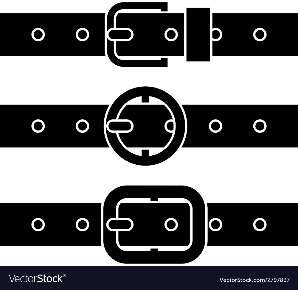 Buckle belt black symbols vector | Price: 1 Credit (USD $1)