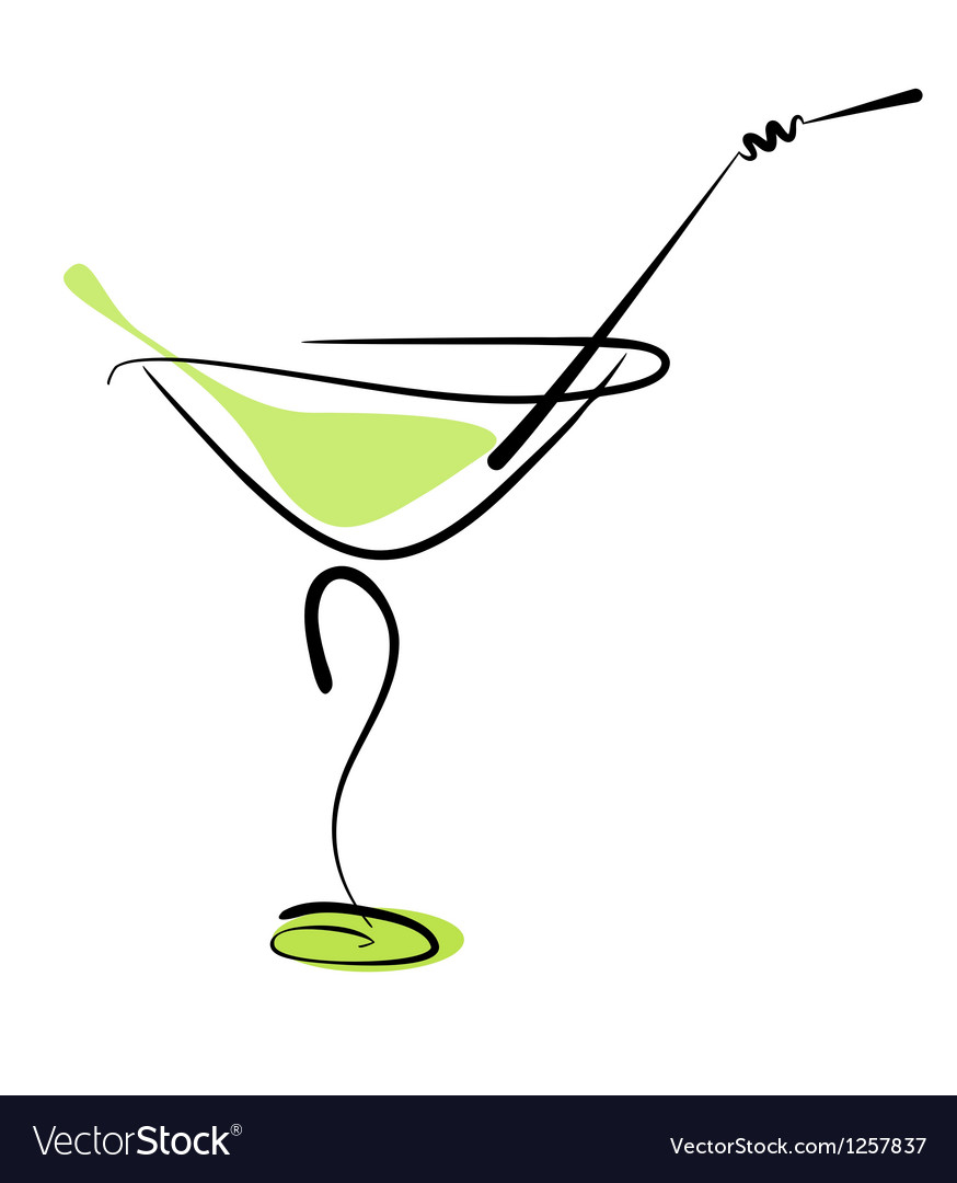 Cocktail martini vector | Price: 1 Credit (USD $1)