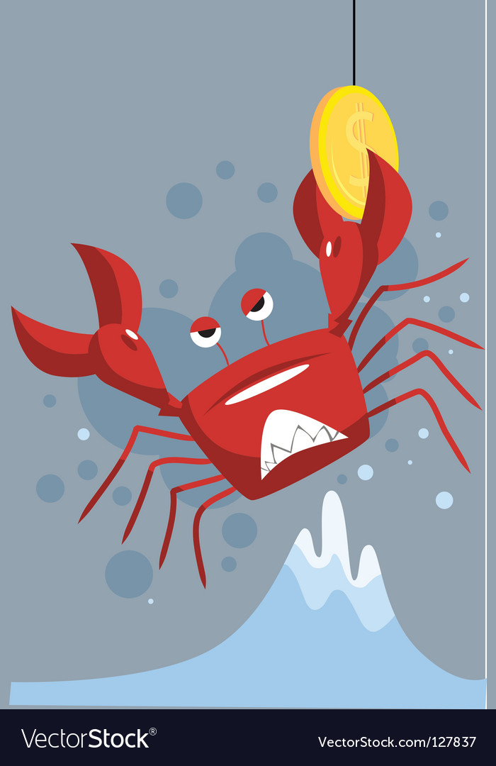 Crab get coin vector | Price: 1 Credit (USD $1)