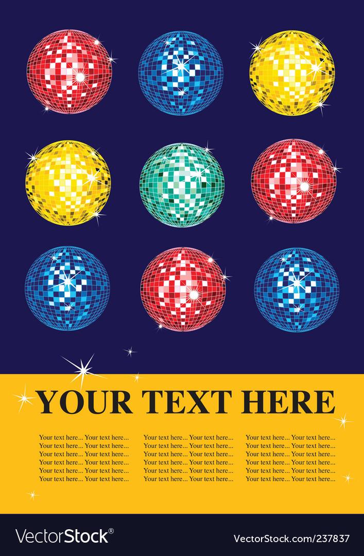 Disco balls vector   Price: 1 Credit (USD $1)