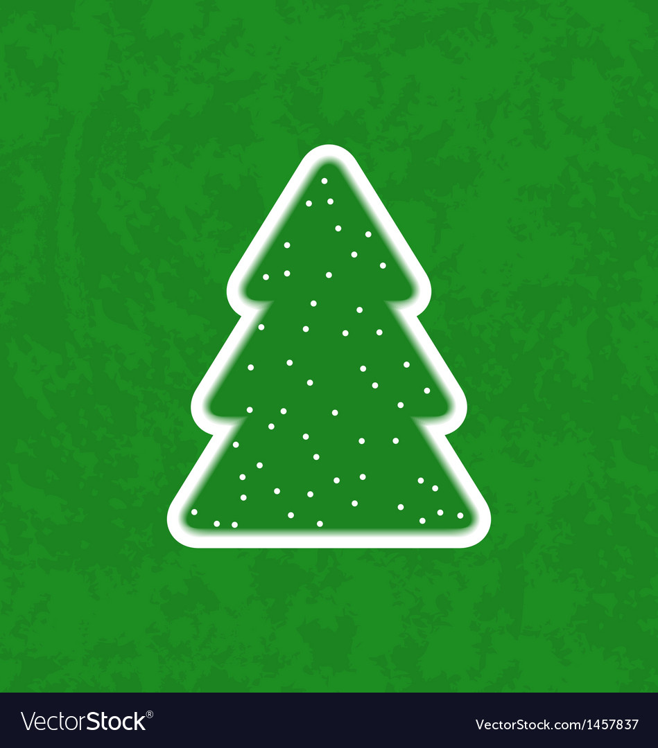 Green paper cut-out christmas tree vector | Price: 1 Credit (USD $1)