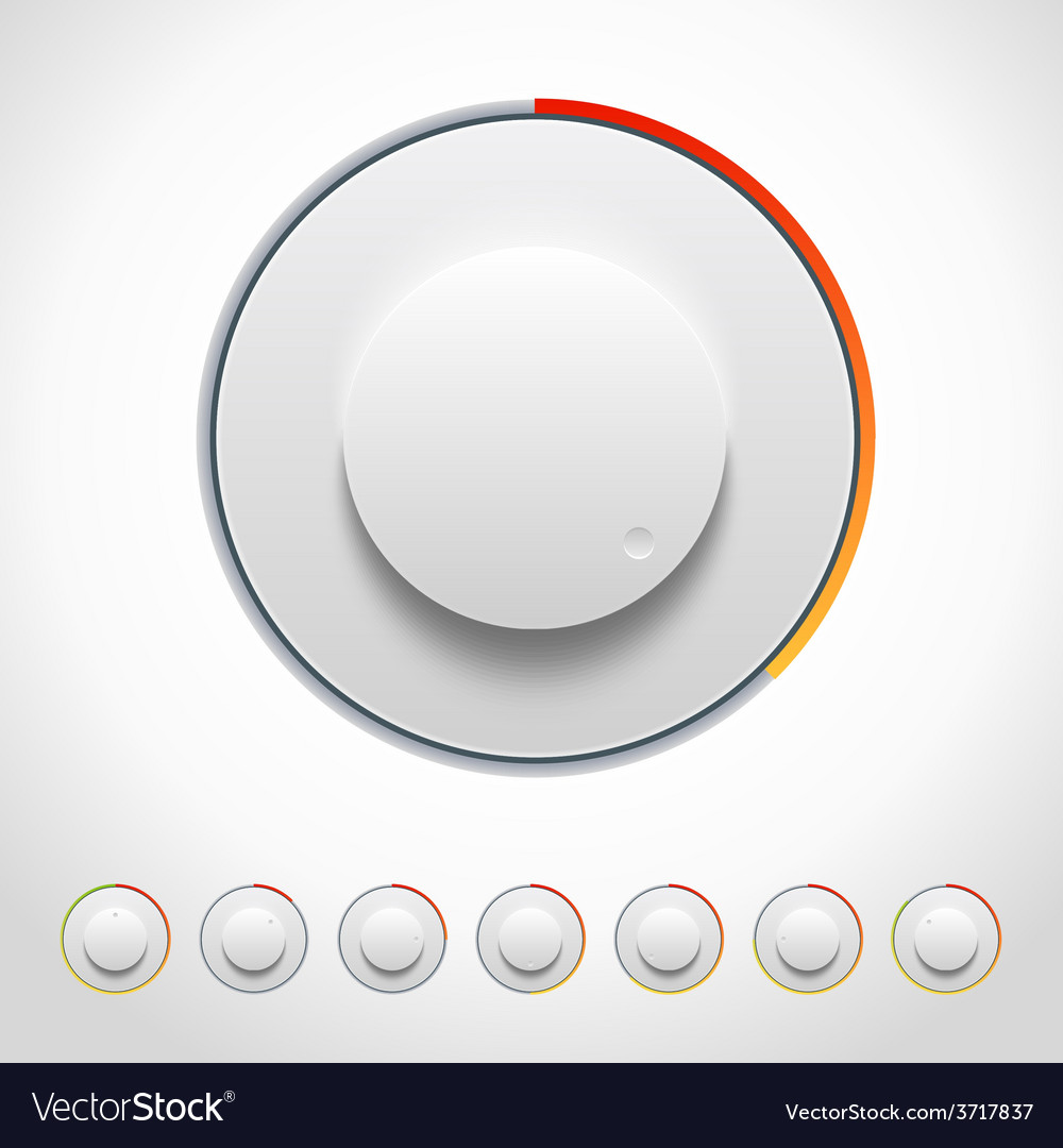 Lights knobs set for web and mobile vector | Price: 1 Credit (USD $1)