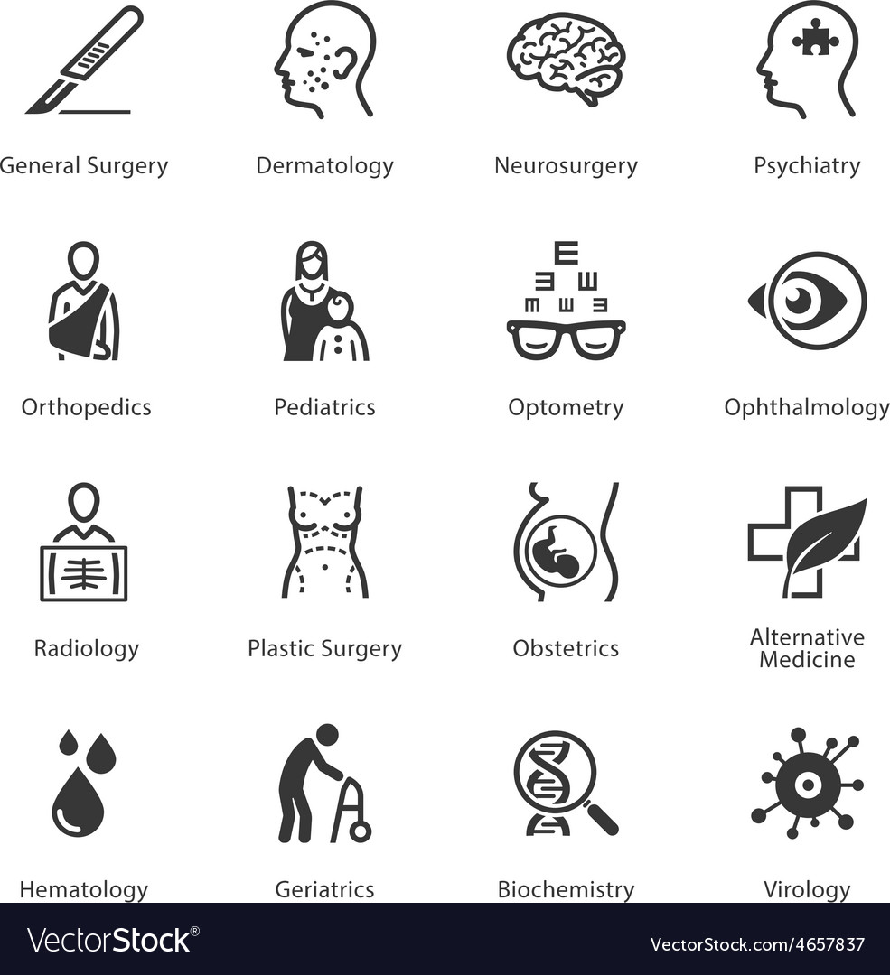 Medical and health care icons set 2 - specialties vector | Price: 1 Credit (USD $1)