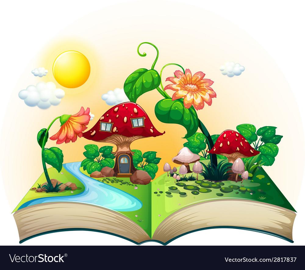 Mushroom house book vector   Price: 3 Credit (USD $3)