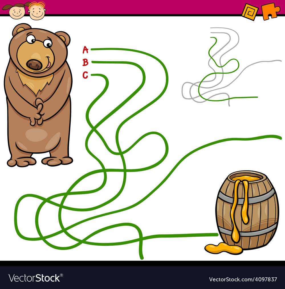 Path or maze cartoon game vector | Price: 1 Credit (USD $1)