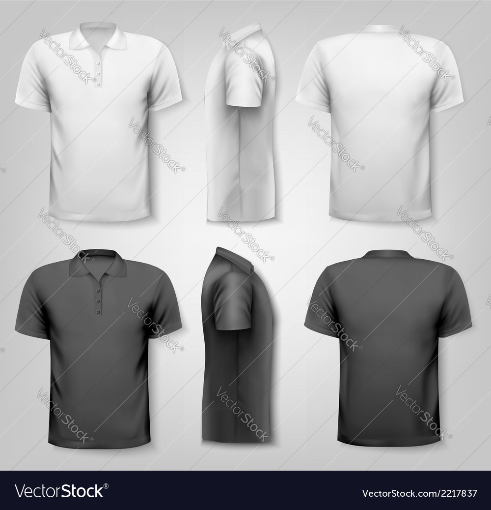 Polo shirts with sample text space vector | Price: 1 Credit (USD $1)
