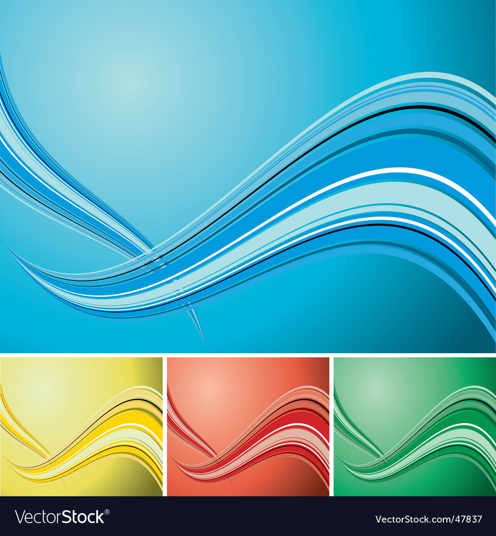 Quad wave background vector | Price: 1 Credit (USD $1)