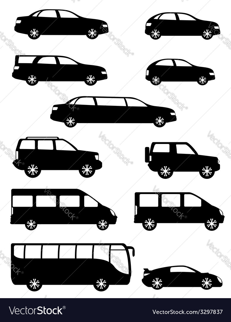 Set of cars for the transportation of passengers vector | Price: 1 Credit (USD $1)