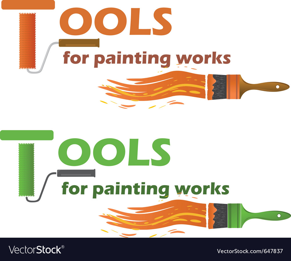 Tools for painting works vector | Price: 1 Credit (USD $1)
