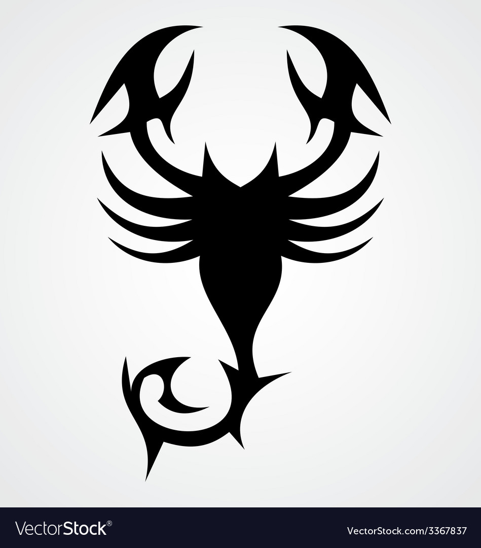 Tribal black scorpion vector | Price: 1 Credit (USD $1)