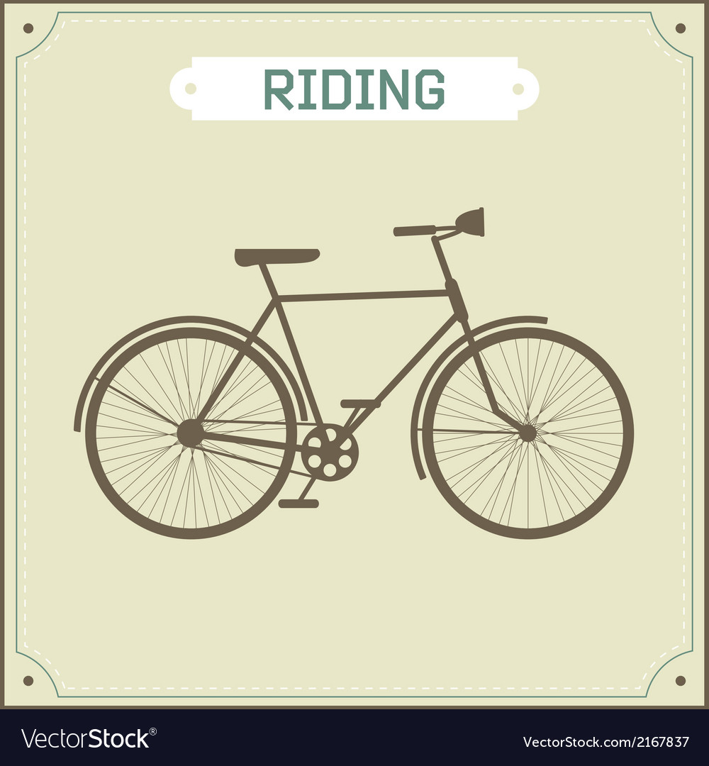 Vintage bike retro vector | Price: 1 Credit (USD $1)