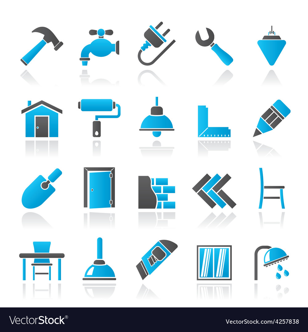 Building and home renovation icons vector | Price: 1 Credit (USD $1)