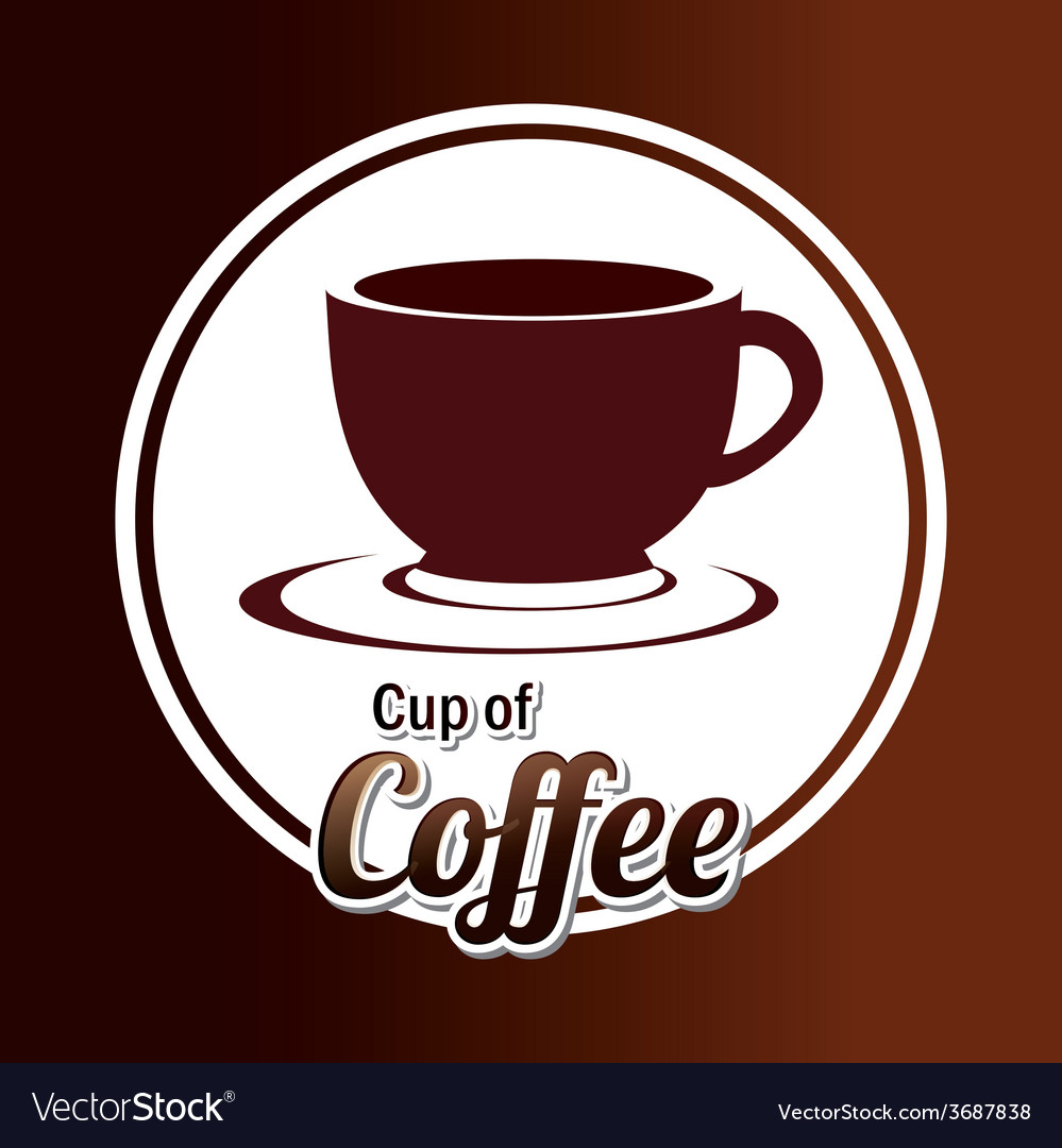 Coffee design over coffee background vector | Price: 1 Credit (USD $1)