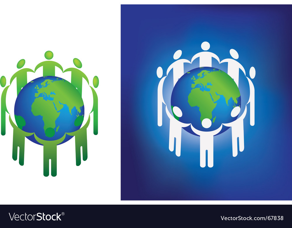 Eco globe ring vector | Price: 1 Credit (USD $1)