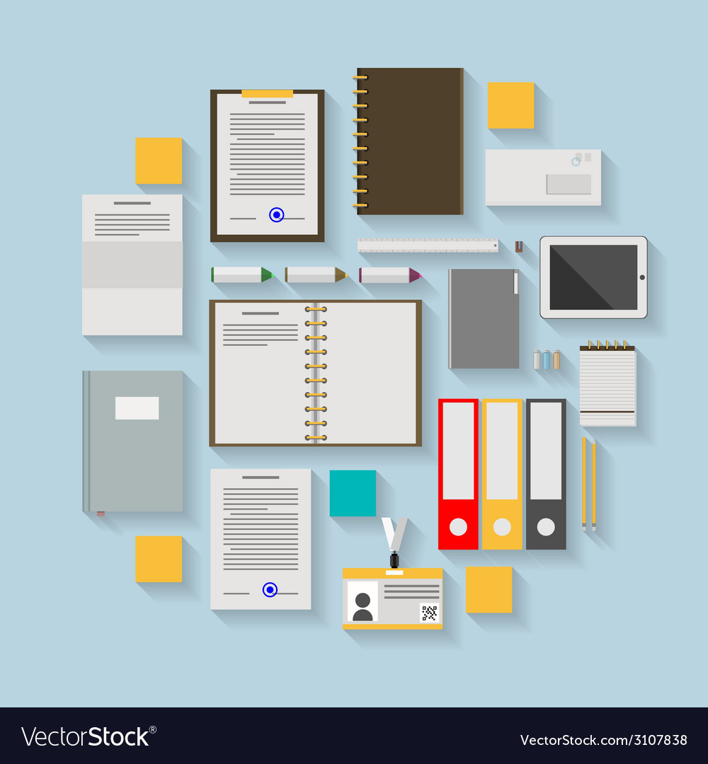 Flat icons for business workflow vector | Price: 1 Credit (USD $1)